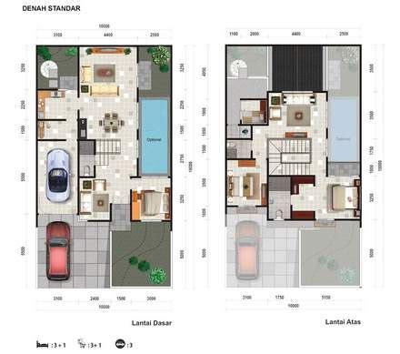 contoh desain rumah minimalis berkolam renang terbaru