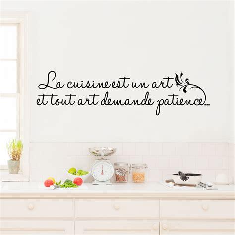 sticker mural cuisine sticker la cuisine est un stickers citations