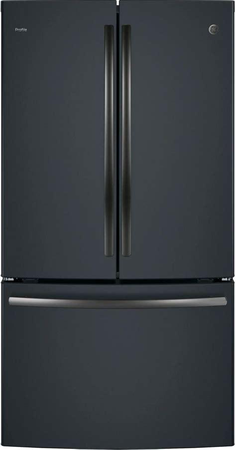 ge profile  cu ft black slate counter depth french door refrigerator pwekelds