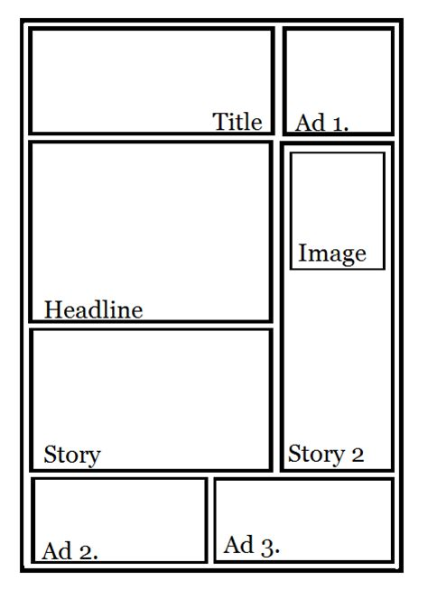 newspaper layout template layout newspaper article
