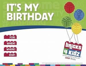 BRICKS 4 KIDZ Parties Events With LEGO Bricks Invitation 3