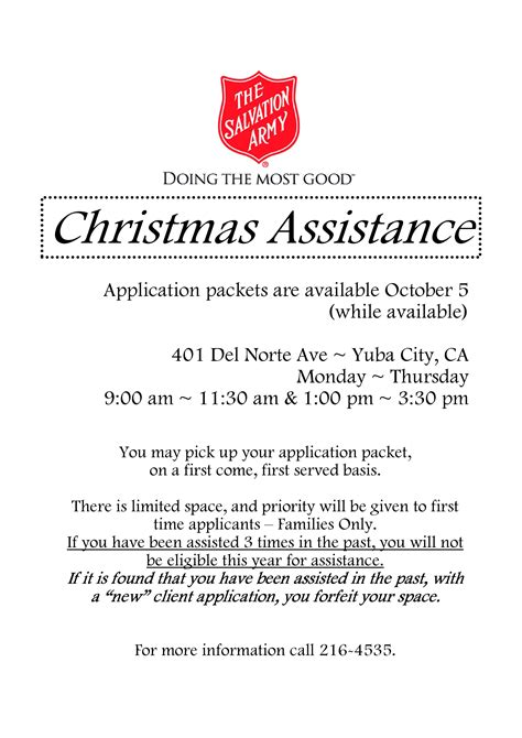 christmas  salvation army examples  forms