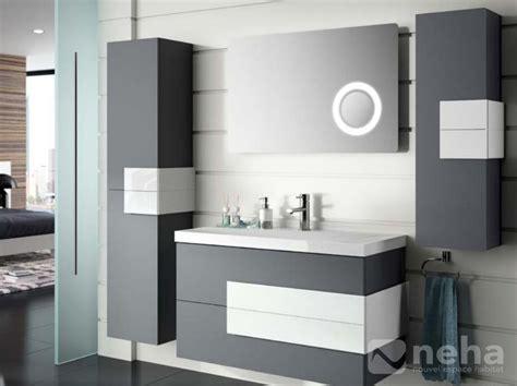 meuble salle de bain blanc et gris id 233 es de d 233 coration