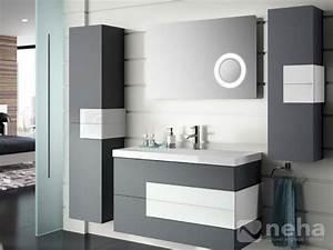 meuble salle de bain gris With meuble salle de bain blanc et gris