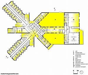 Storstr U00f8m Prison  Standard Wing U0026 39 S Light Diagram Plan