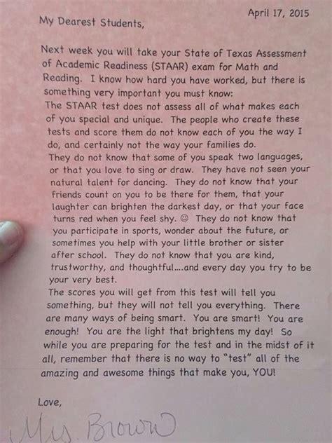 encouraging letter  students letter  students