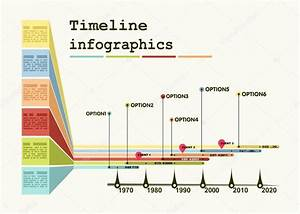 Timeline Infographic With Diagrams And Graphics  U2014 Stock