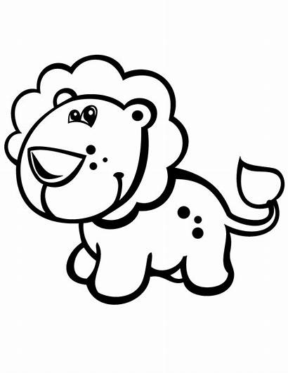 Lion Coloring Pages Printable Grade Cartoon Clipart