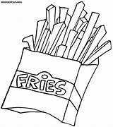 Fries Coloring Fast Colouring French Salty Drawing Spicy Fry Printable Picolour Fastfood Awesome Getdrawings Template Colorings sketch template