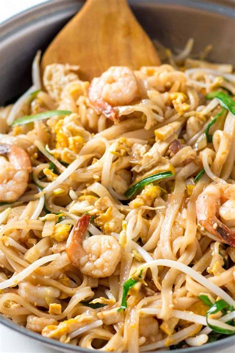 thai pad shrimp recipe noodle thailand leelalicious noodles dishes cooking mai gluten stir fry food tastes streets asian amazing learnt