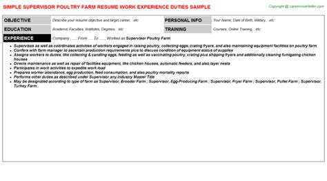 Poultry Farmer Resume by Application Letter Format By Email Writing Selling Poultry Farm Supervisor Resumes Resume