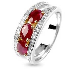 bague de mariage or blanc bague rubis diamant en or blanc 12296ru bague de mariage