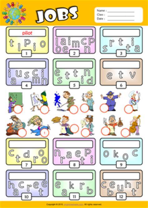 Jobs Esl Printable Worksheets For Kids 2