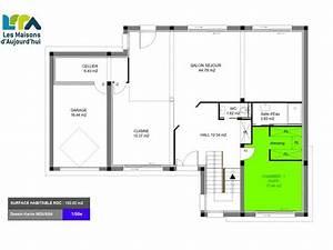 plan maison 110m2 4 chambres xc76 jornalagora With exceptional plan maison en l 100m2 7 plans de maisons constructeur deux savres