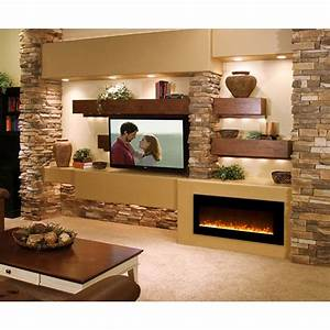 45, Cool, Electric, Fireplace, Designs, Ideas, For, Living, Room