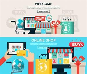 Set Online Shop : internet store flat banner set stock vector illustration of design line 57611269 ~ Orissabook.com Haus und Dekorationen