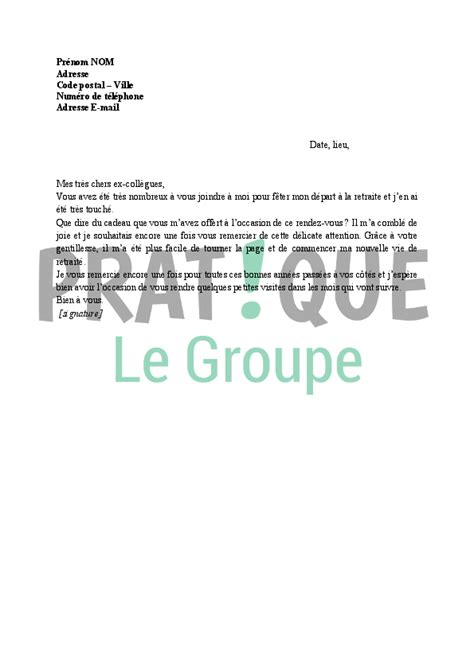 mail invitation pot de depart demission lettre de remerciement apr 232 s d 233 part en retraite pratique fr