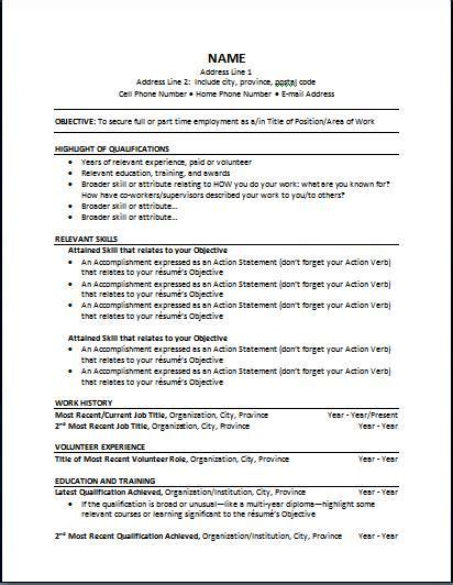 Types Of Resumes  Michael Page Ca