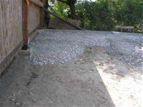 split zum pflastern carport bauen unterbau pflastersteine