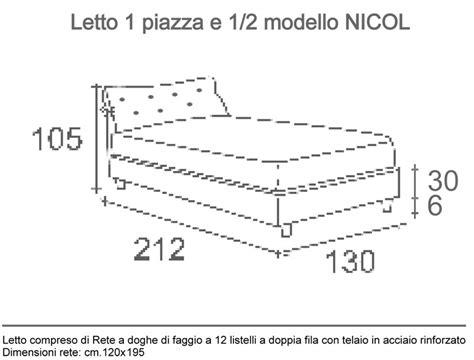 materasso 1 piazza e mezzo misure dimensioni letto lunghezza letto ponte misure lenzuola