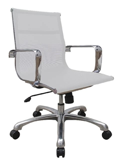 baez white mesh conference room office chair by woodstock