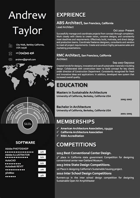 12652 creative resume templates for architects word architect resume cv template vista resume