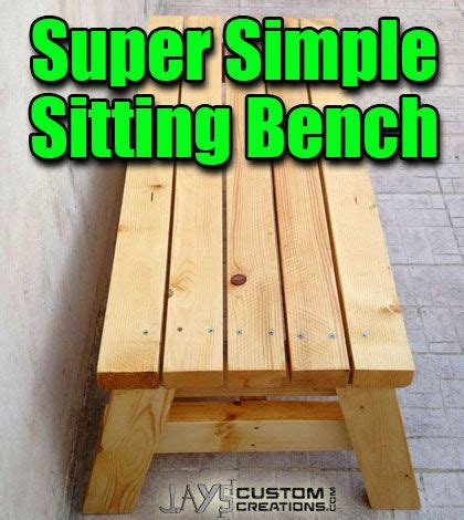 build  simple sitting bench small woodworking