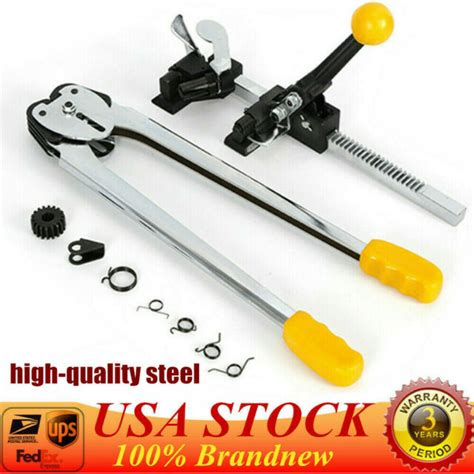 ratchet action poly strapping banding tools tensioner crimper fast shipping ebay