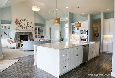 Nice Color Combinations For Living Room by Kitchen And Family Room Great Room Simple Clean