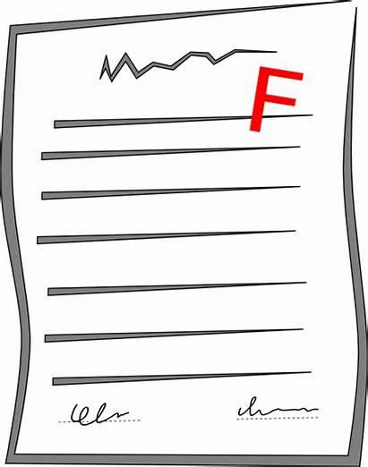 Failed Test Clipart Paper Failing Clip Cliparts