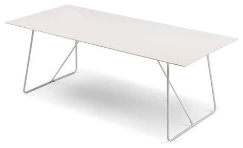 pacific table ceramic white white metal