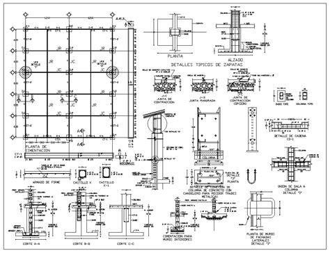 foundation details  cad files dwg files plans