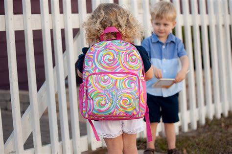 monogram preschool backpack monogram book bags personalized backpacks  toddlers