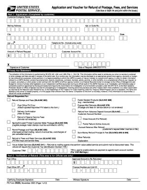 form usps ps  fill  printable fillable