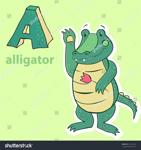 Alphabet Alligator Stock Vector 255347059 Shutterstock