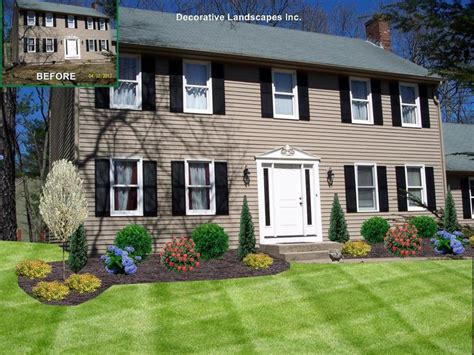 Colonial Home Design Ideas by Front Landscaping Ideas For Colonial Homes Gardening