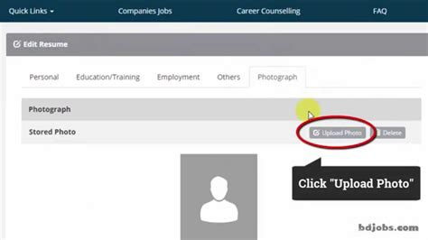 Timesjobs Resume by How To Upload Quot Photo Quot In Your Resume