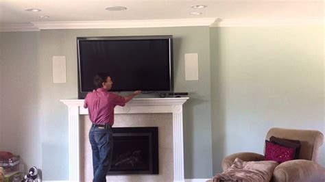 tv  fireplace     mount youtube