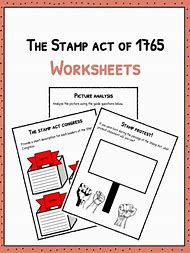 Stamp Act Worksheets For Kids