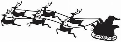 Sleigh Santa Silhouette Transparent Clip Sled Claus