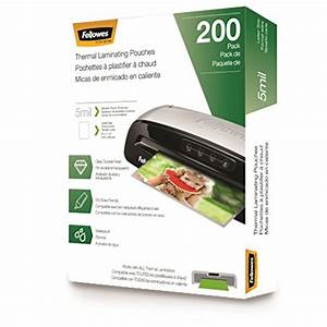 laminating pouches letter size 3 mil 200 pack 5743401 With fellowes letter size laminating pouches 5 mil 150 pack