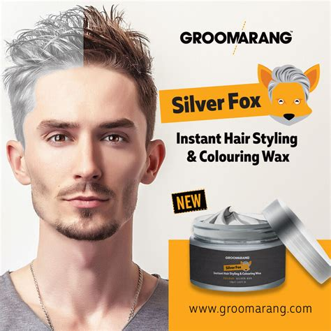 Silver Colour Grey Hair Wax Men Women Grandma Hair Ash Dye