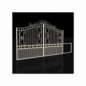 Portail Alu Coulissant 3m : portail coulissant fer forg ciotat vert 3m ~ Edinachiropracticcenter.com Idées de Décoration