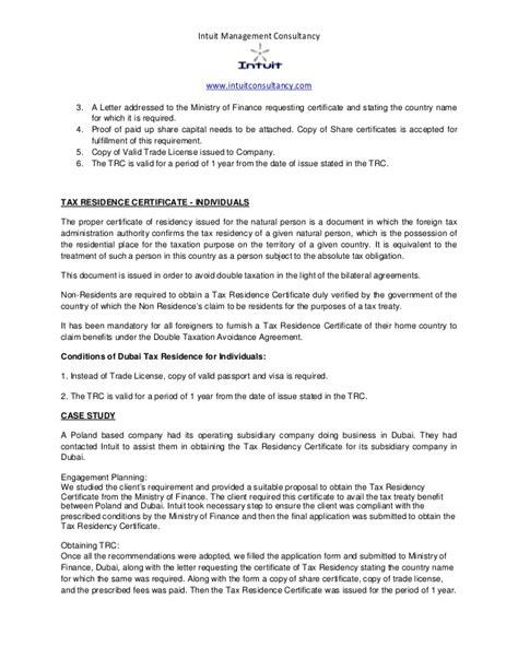 letter address format netherlands dubai tax residency