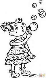 Coloring Pages Clipart Printable Bubbles Blowing Bubble Drawing Crying Main sketch template