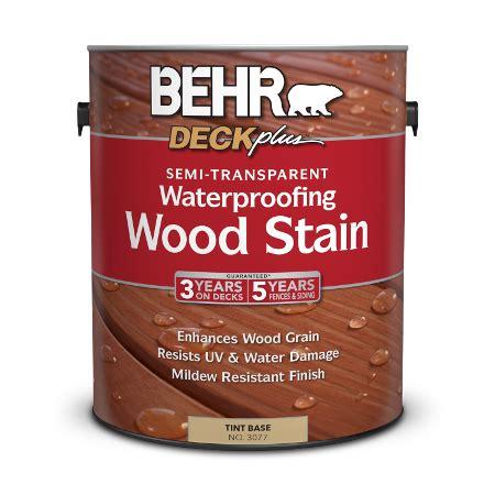 semi transparent waterproofing wood stain behr deckplus