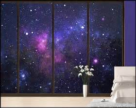 Outer Space Shower Curtain by Galaxy Themed Bedroom Wallpaper