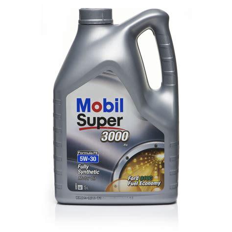 auto öl 5w30 mobil 3000x1 fully synthetic motor 5w30 5l wilko