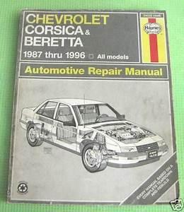Purchase Haynes Repair Manual Chevy Corsica Beretta 1987