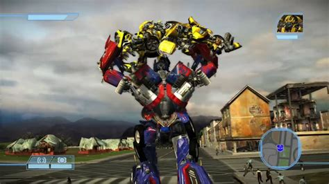 Transformers The Game Bumblebee Vs Optimus Prime Youtube